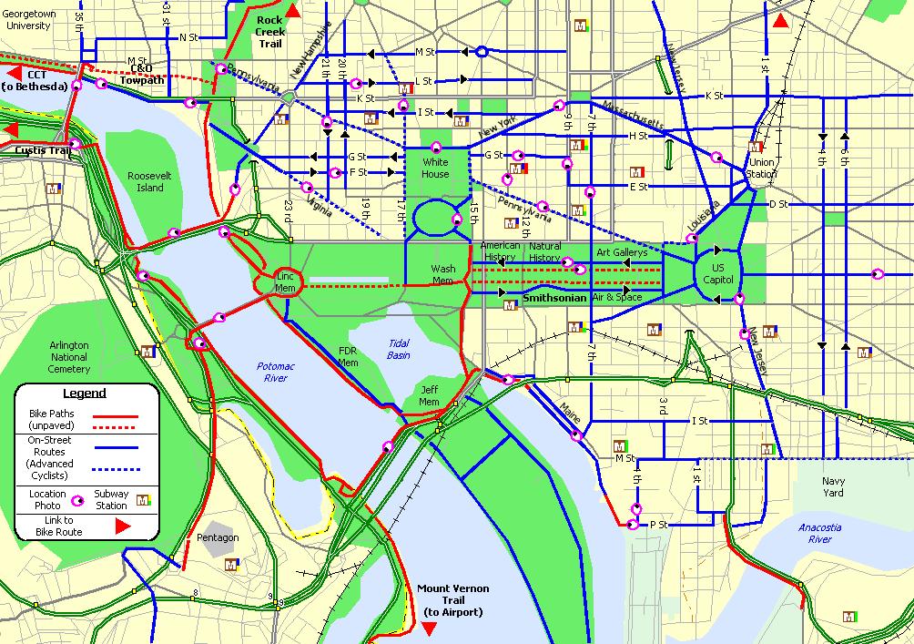 Bike Washington - Downtown Commute Routes
